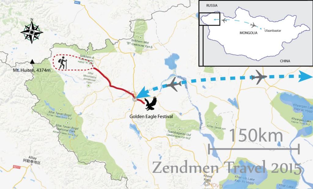 Golden Eagle Festival Tour map