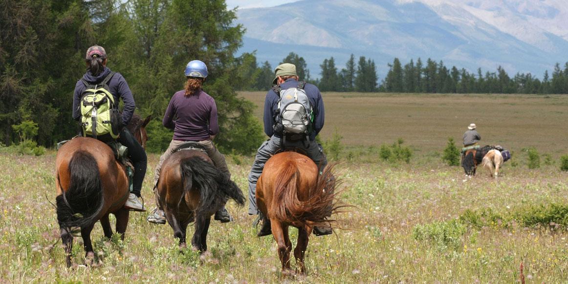 Horse Riding at Hovsgol Lake