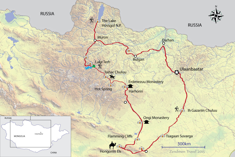 map of nomadic odyssey tour