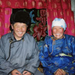Mongolian couple from countryside