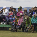 Locals watching Mongolian wrestling