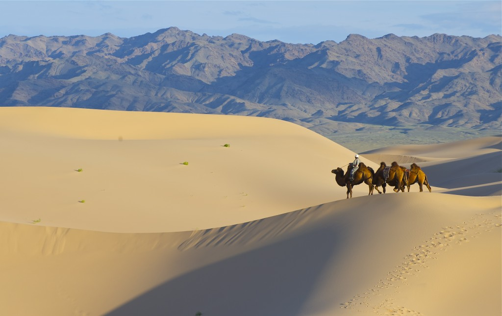 Caravan on Sand dune