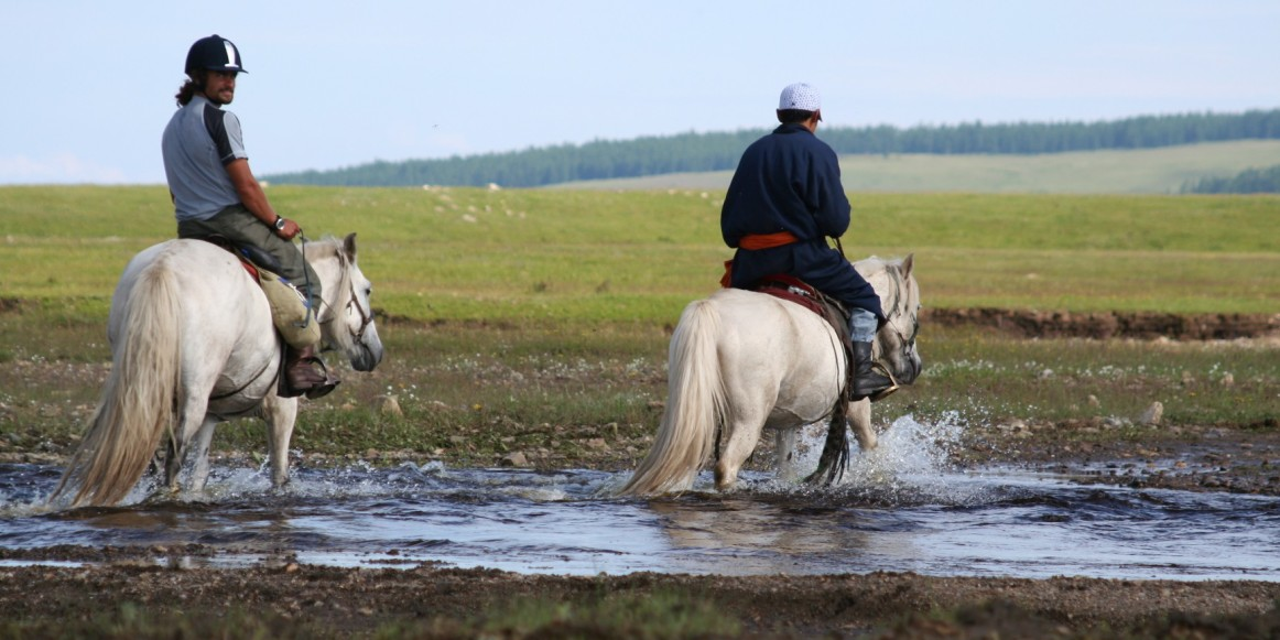 Horse trekking to the Lake Hovsgol area