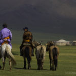 Going home after the naadam festival