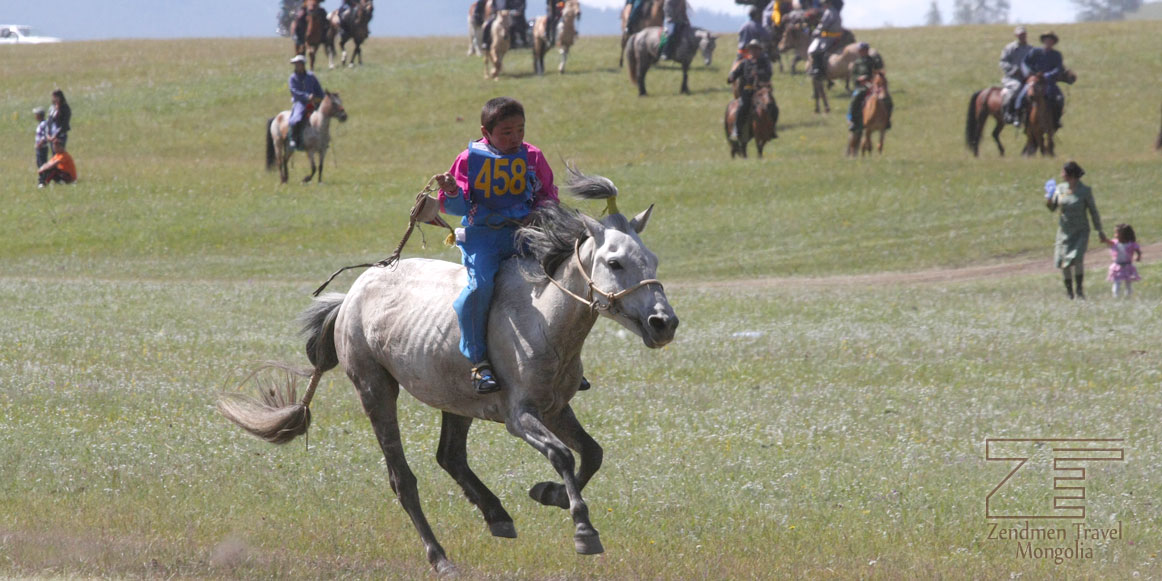 A boy attending horse race in Hatgal town, Hovsgol province
