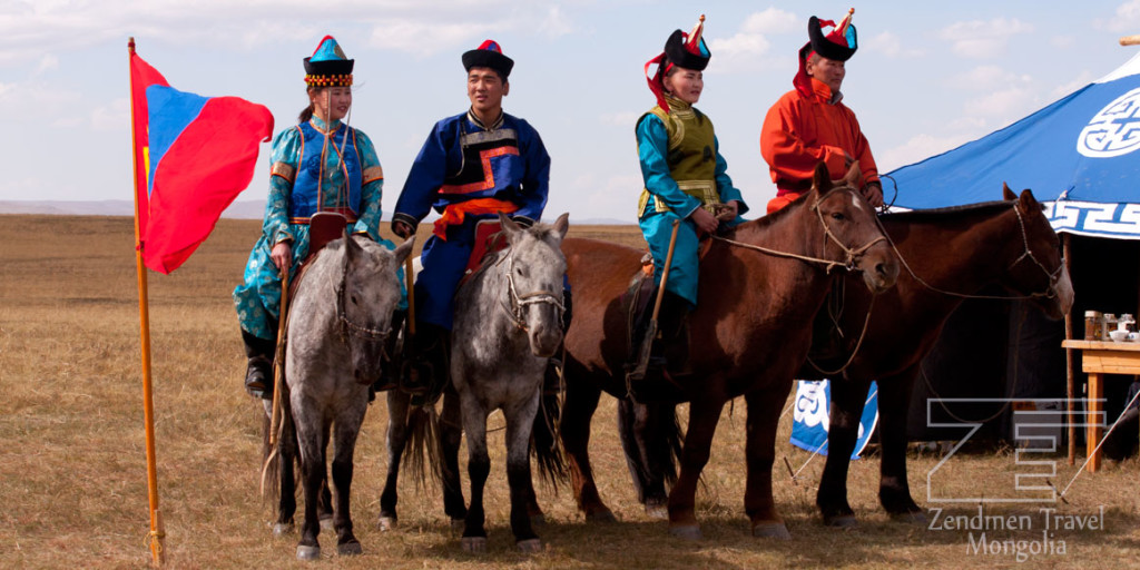 Mongolian couples during Naadam Festival