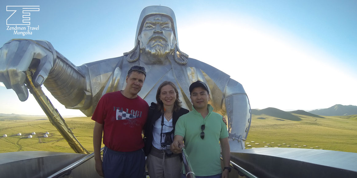 Selfie with Chinggis Khaan