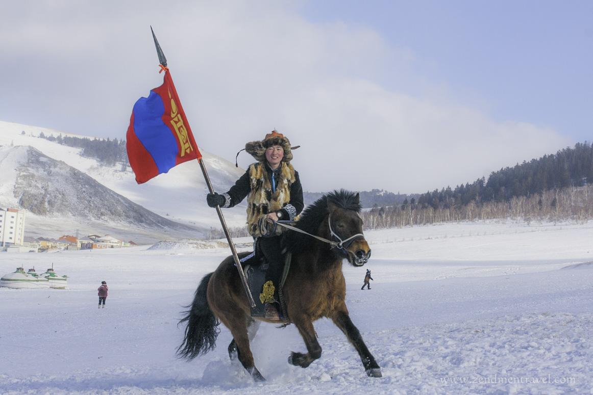Young Mongolian Kazakh boy