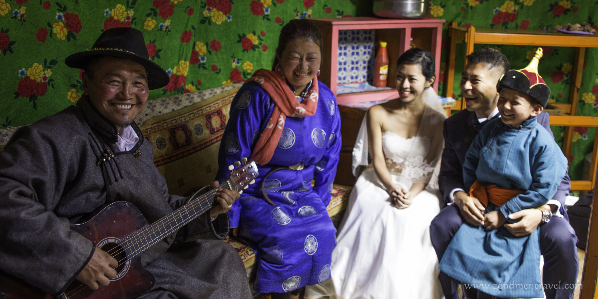 Happy Mongolian family sings for their Singaporean guests