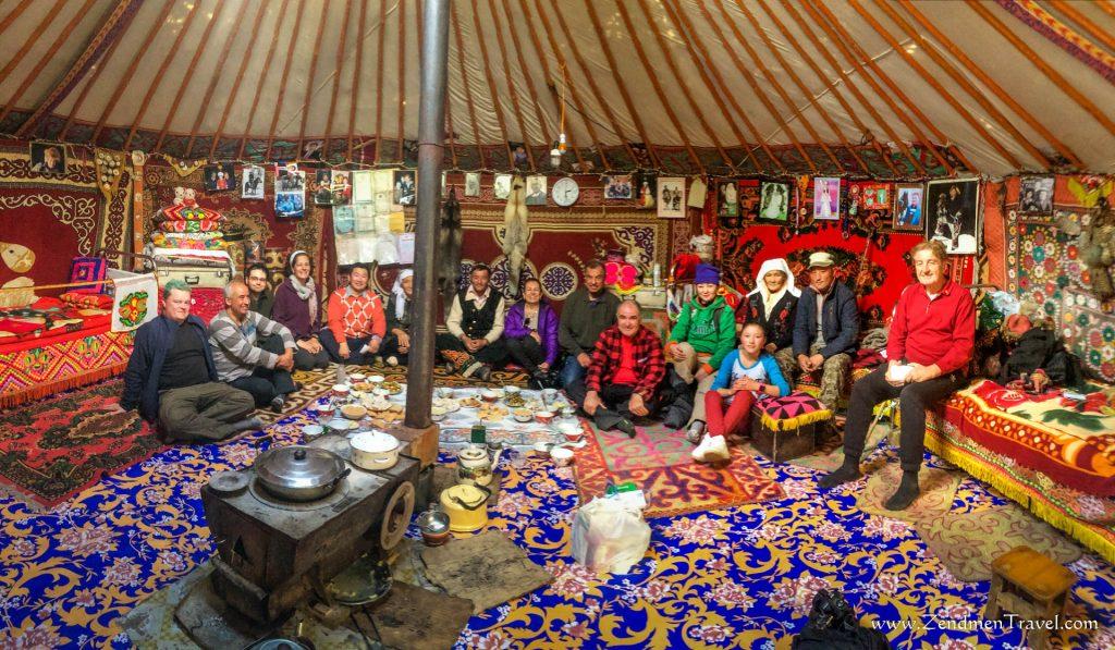 Inside the Kazakh ger